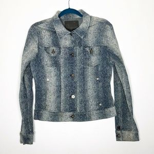 Guess Denim Jacket Junior Large Blue White